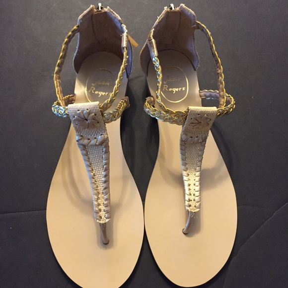 8be7722f2 Jack Rogers Shoes -   Sale  Jack Rogers Jenna Gold Sandals Sz 9.5